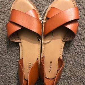 Torrid tan leather sandals